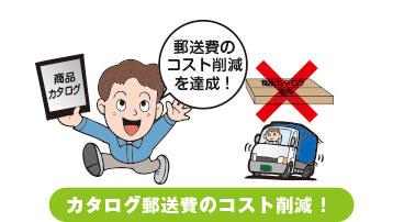 カタログ郵送費のコスト削減!